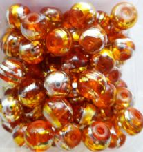 Glass Drawbench Beads 6mm Orange x 20